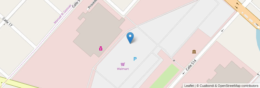 Mapa de ubicacion de Walmart, Ringuelet en Ringuelet, Partido De La Plata, Buenos Aires, Argentina.