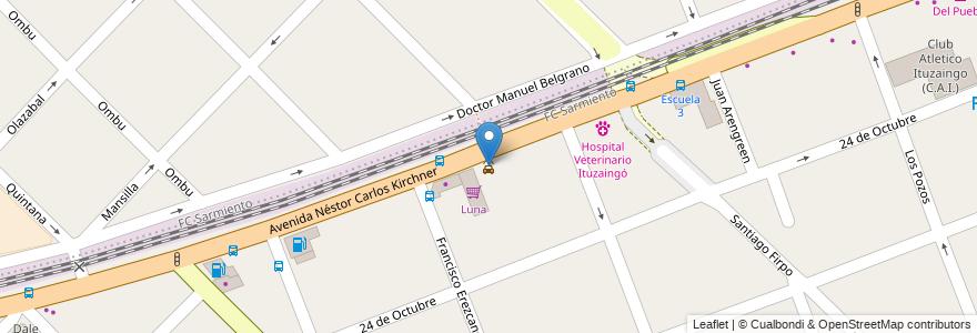 Mapa de ubicacion de West Point en Argentina, Buenos Aires, Partido De Ituzaingó, Ituzaingó.