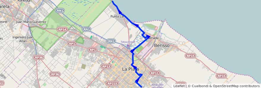 Mapa del recorrido Boca Cerrada de la línea 275 en Buenos Aires.
