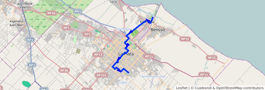 Mapa del recorrido C de la línea 307 en Buenos Aires.