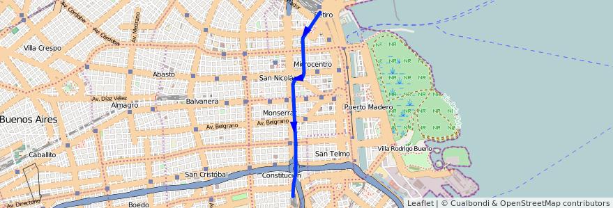 Recorrido C Desde Retiro Hasta Constitución De La Linea Subte En - Argentina subte map