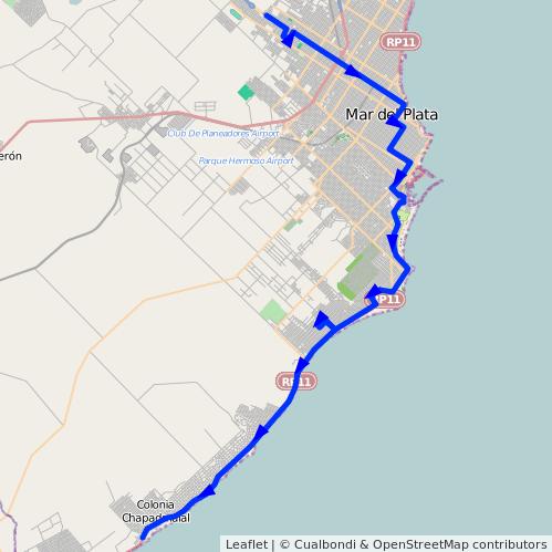 ruta desde: