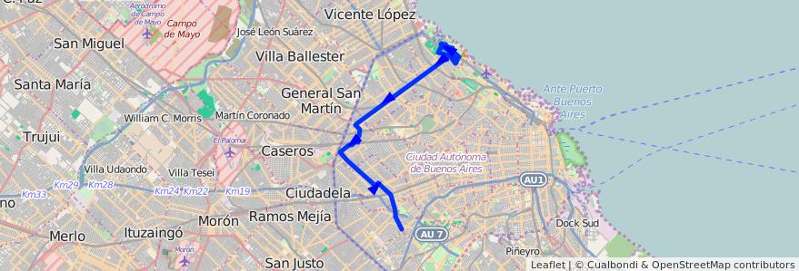 Recorrido P.Avellaneda-Cdad.Uni desde Calle 3 hasta