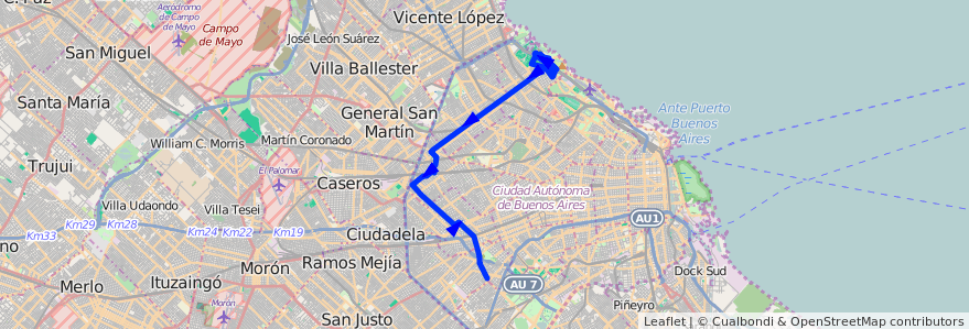 Mercedes San Jose >> Recorrido P.Avellaneda-Cdad.Uni desde Calle 3 hasta ...