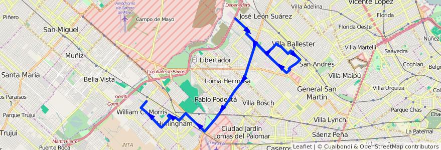 Mapa del recorrido R1 V.Lanzone-Est.Morr de la línea 237 en Buenos Aires.